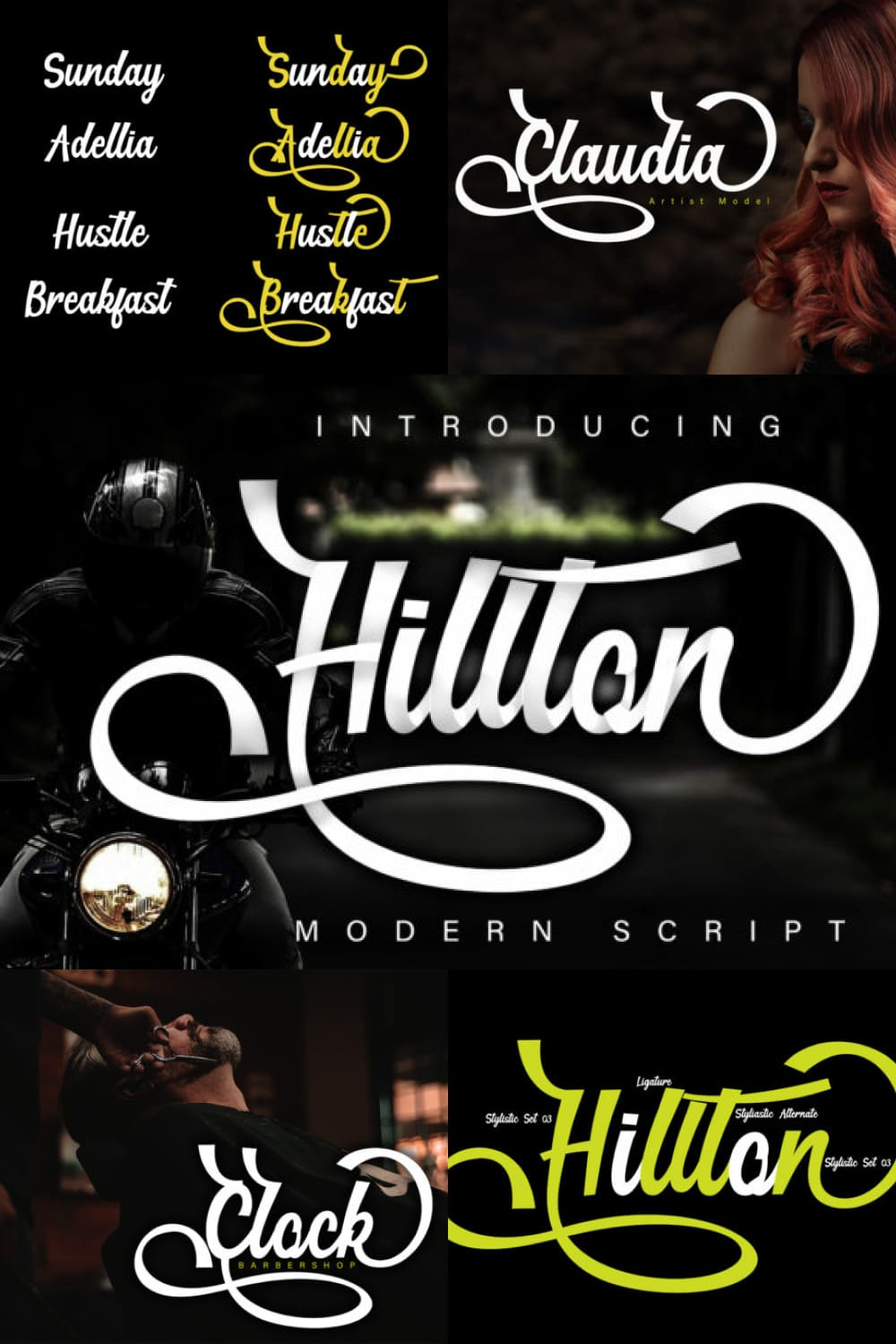 Hillton is a classy, elegant and super stylish modern script font perfectly suited for many projects.