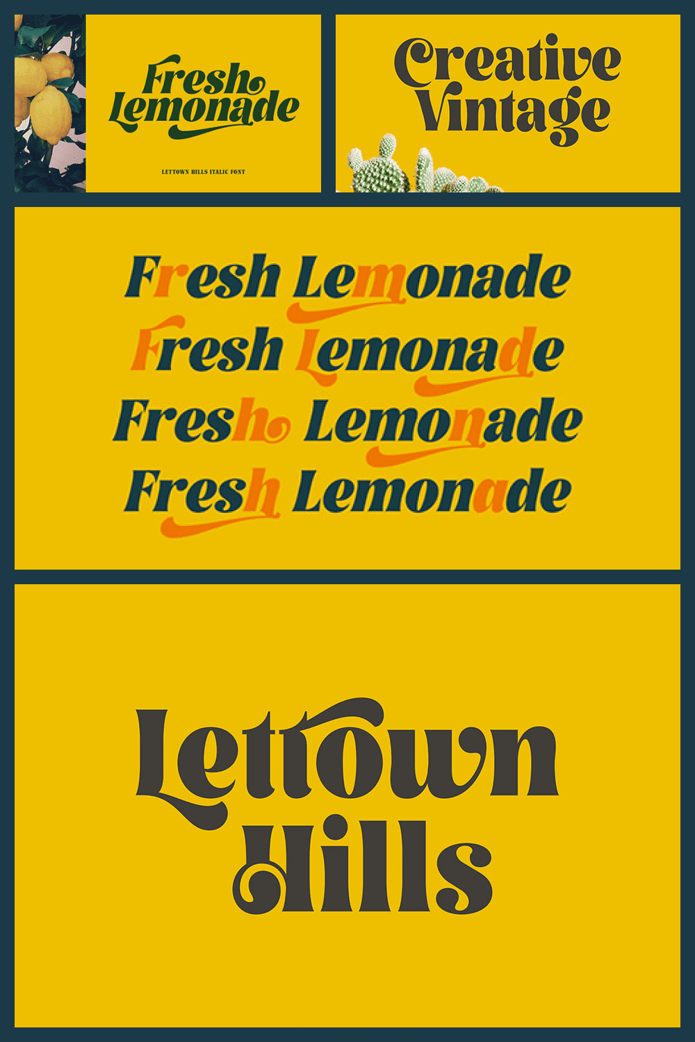 Stylish and creative font with interesting curled endings.