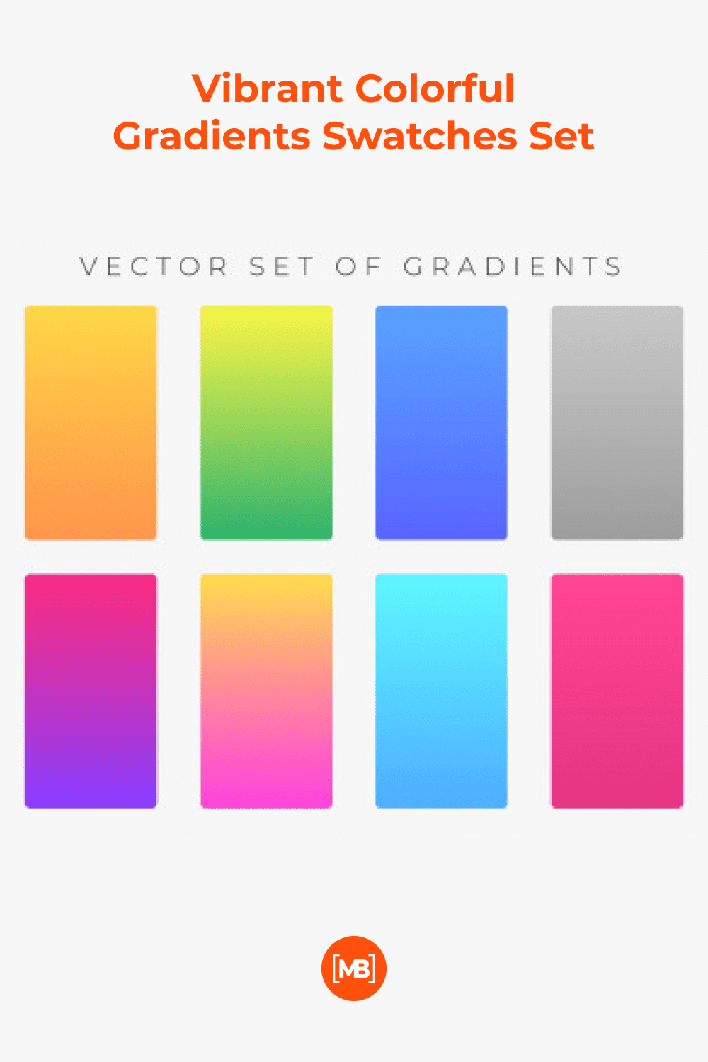 Gradient of different colors.