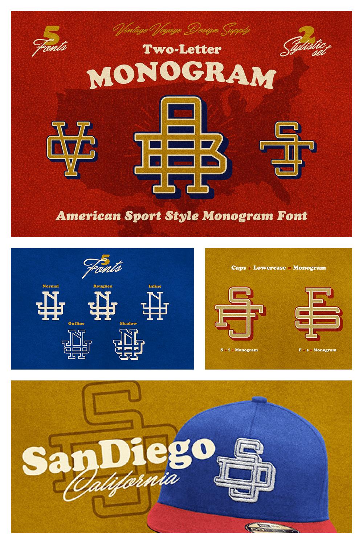 A unique designer font in a vintage style.