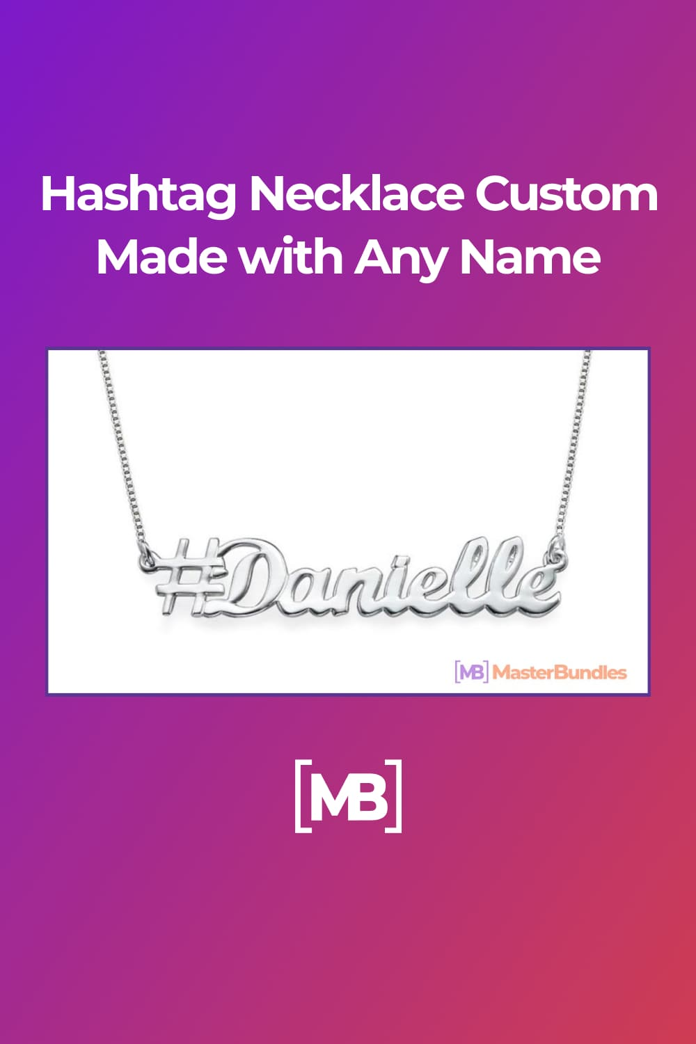 A personalized hashtag necklace is a perfect gift for woman.