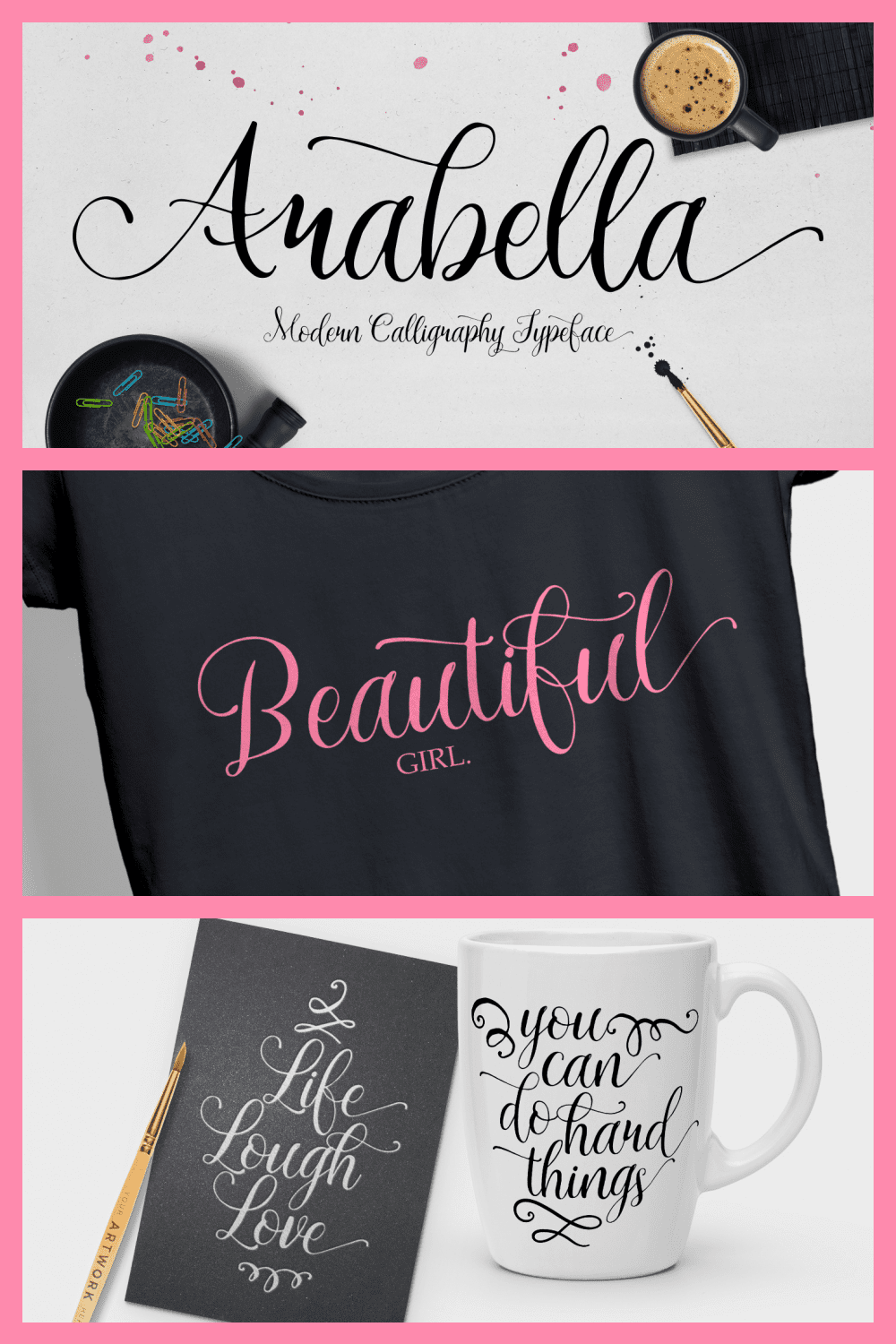 A romantic font with curls and a veil of love.