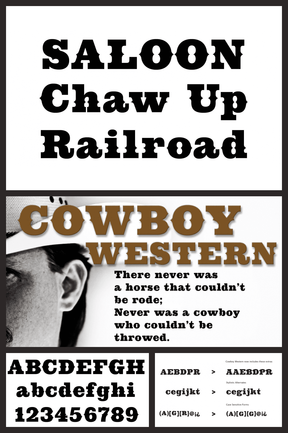This is the West and has its own rules.