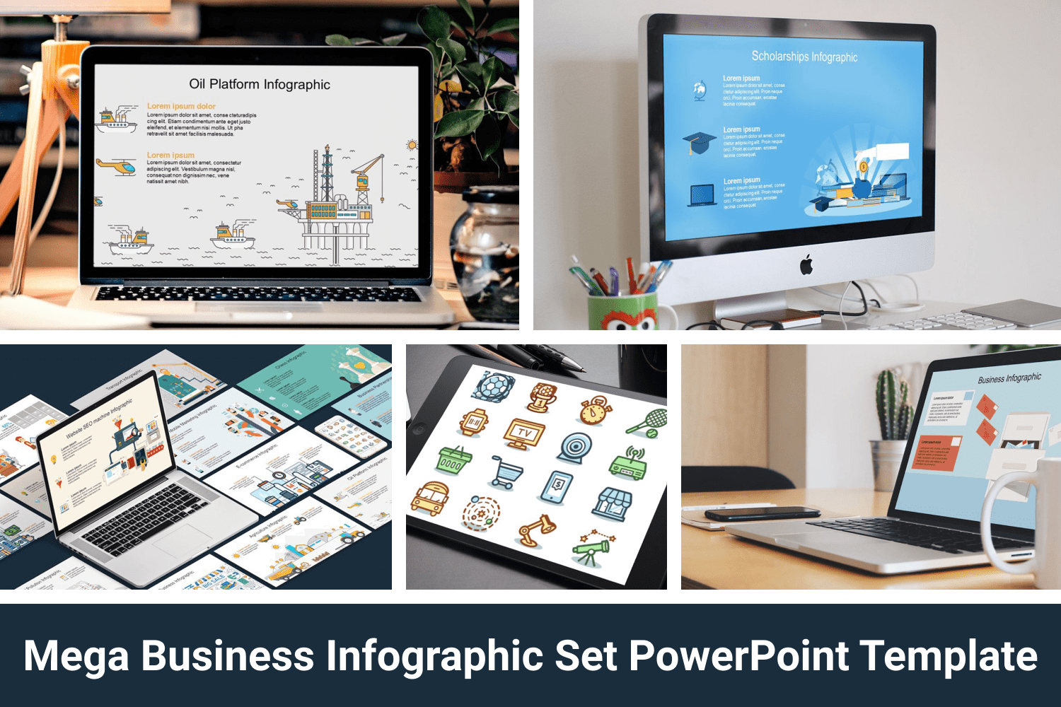 This is a amazingly designed fresh infographic bundle designed to enlighten your presentation and fill them with a new life and energy.