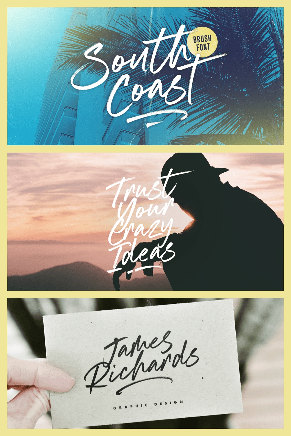 Cold ocean and surf font.