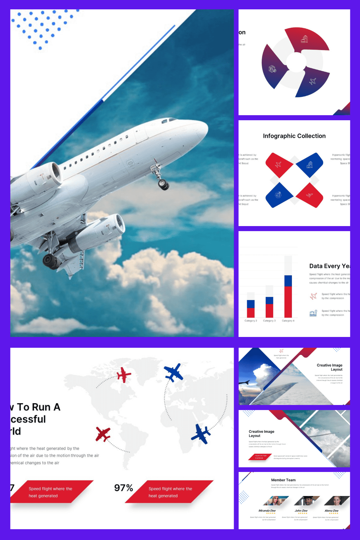 Aircraft  Presentation. Collage Image.