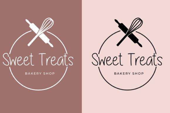 Bakery logo design in pastel colors.