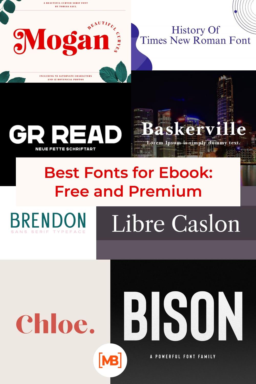 Fonts for Ebooks   Pinterest.