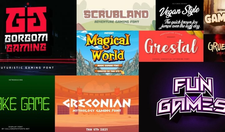 Best Gaming Fonts Free and Premium Post Example.