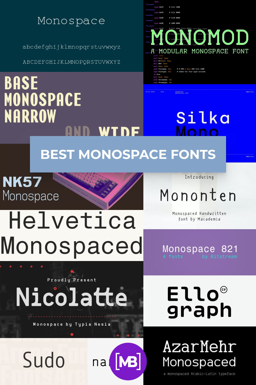 Monospace Fonts  Pinterest.