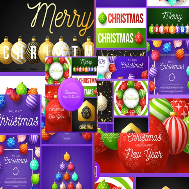 Christmas Tree Balls Set cover image.