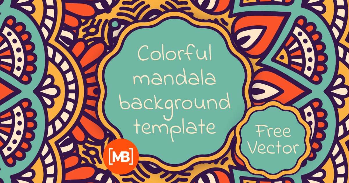 A bright illustration with accents in turquoise and with a mandala of different formats.