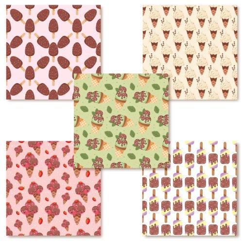 Tile with ice cream print.