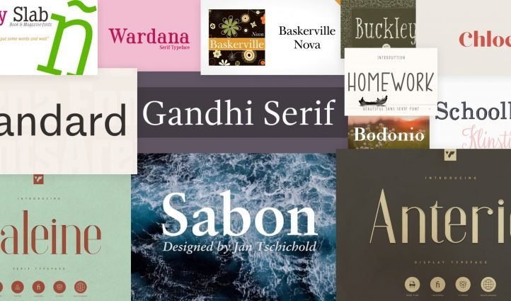 Fonts for Books Post Example.