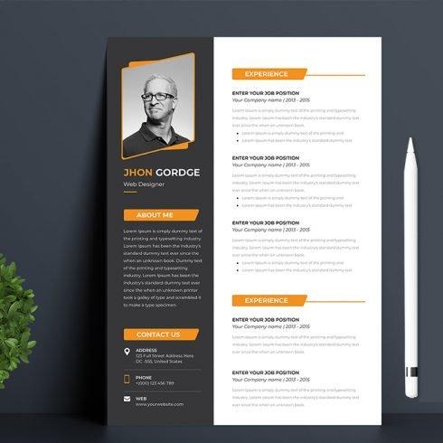 Minimal Resume Template main cover.