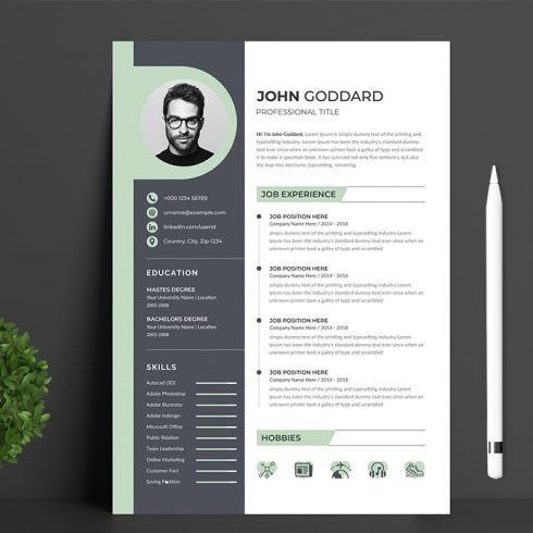 Resume Template main cover image.