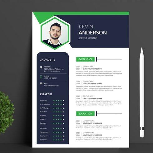 Resume CV main cover.
