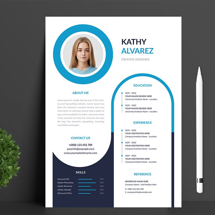 Resume Template main cover.