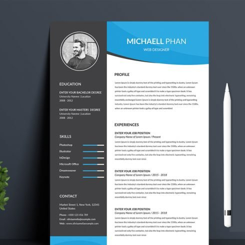 Professional Resume main cover.