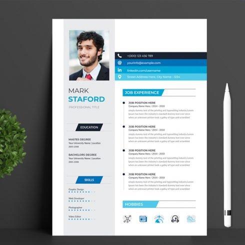 Resume Design main cover.
