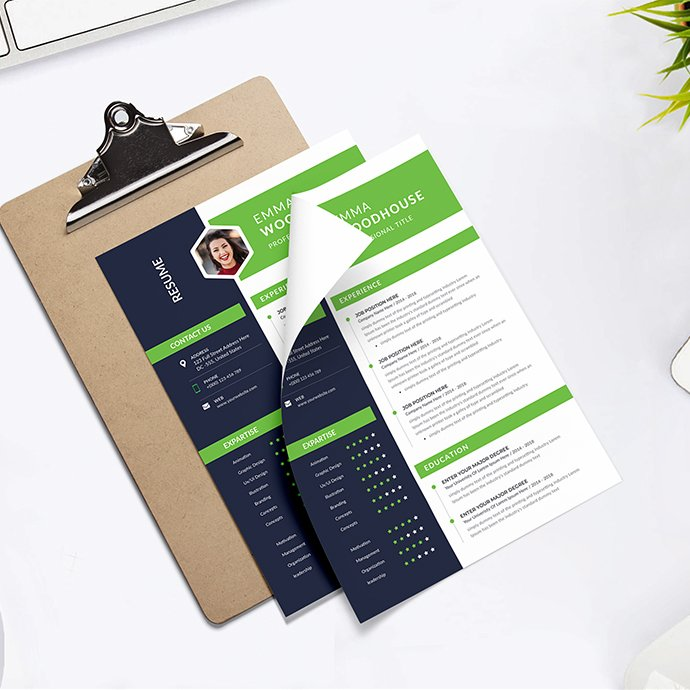 Resume Template cover image.