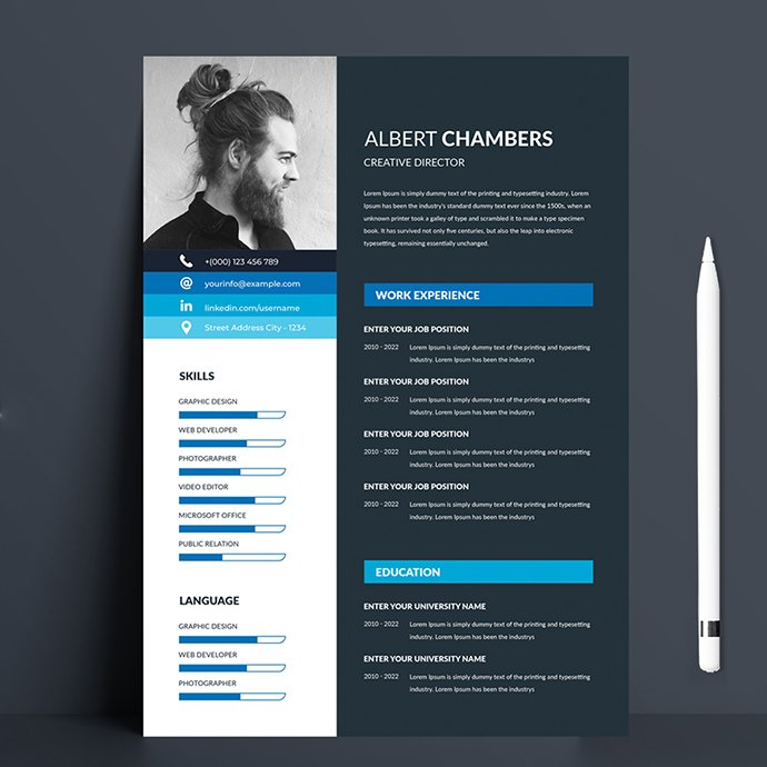 The flexible page designs are easy to use and customize, modern and professional Resume templates to help you land that great job, so you can quickly tailor-make your resume for any opportunity.