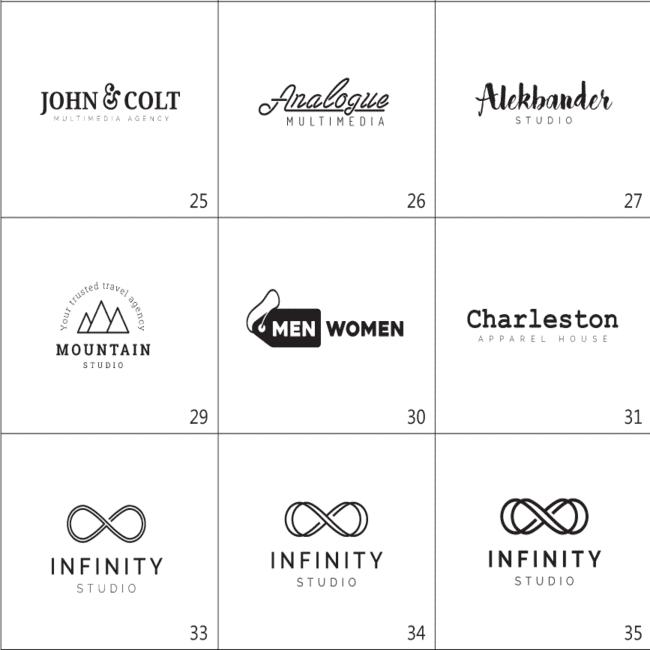 Minimal Typography Logos Bundle cover image.