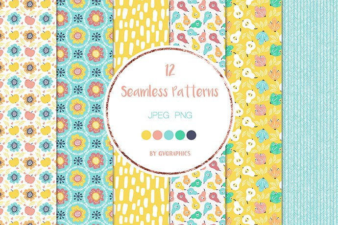 Bright and cheerful print with flowers.