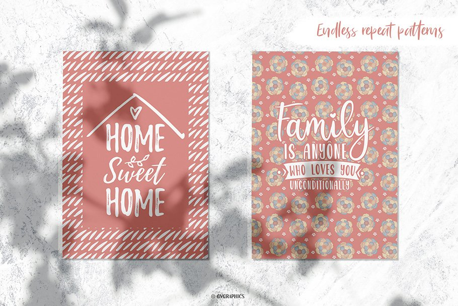 Write your family rules on this perfect pattern.