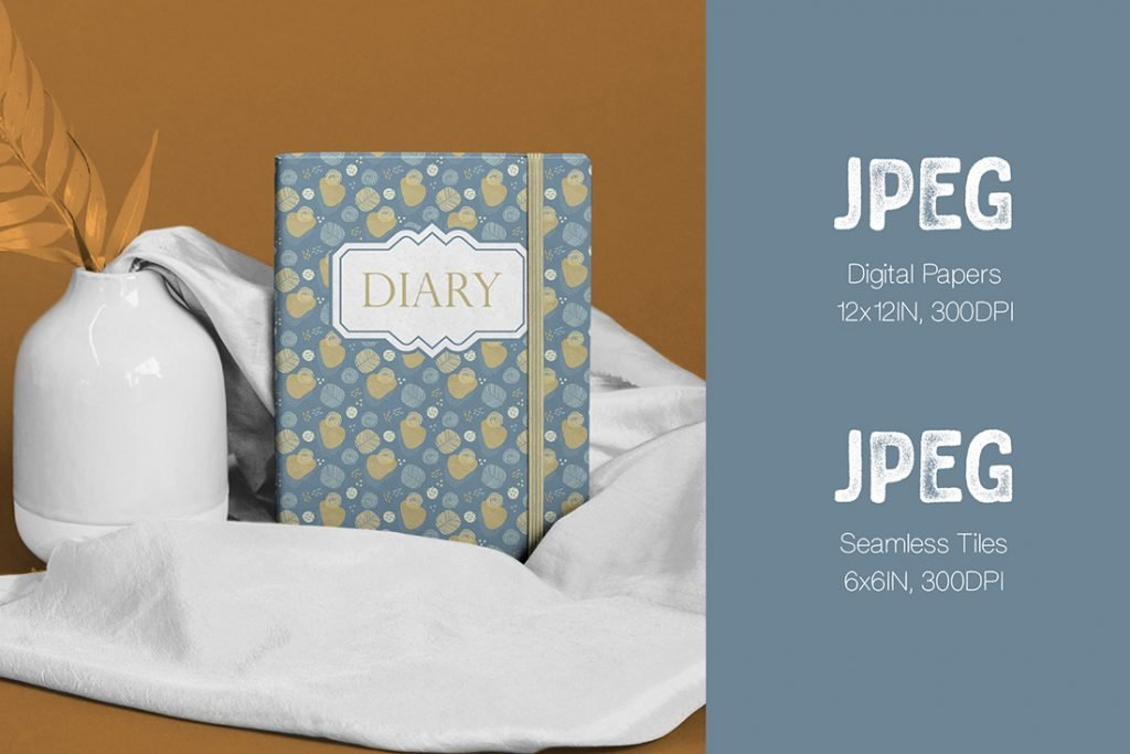 Classic diary with blue and brown cover.