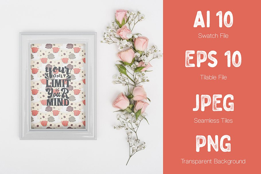 Cute poster with flowers.