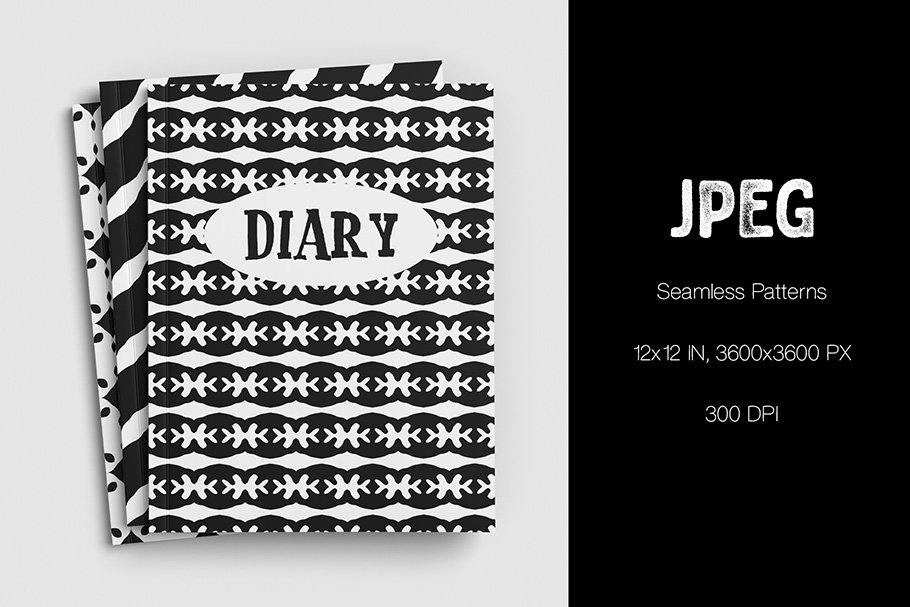 Black and white abstraction looks creative and stylish on covers.