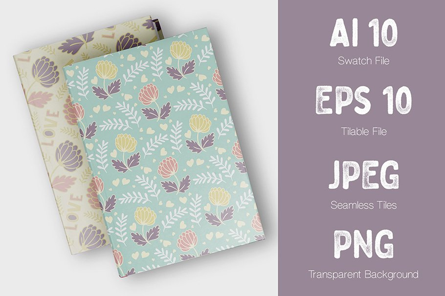 This is a versatile cover featuring wild flowers and field plants.