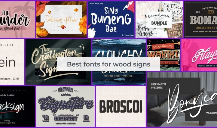 Fonts for Wood Signs Example.