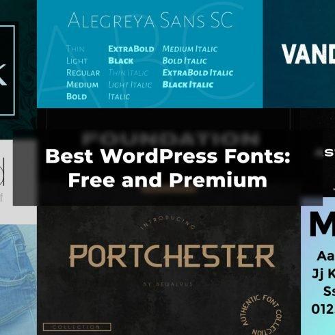 WordPress fonts example.
