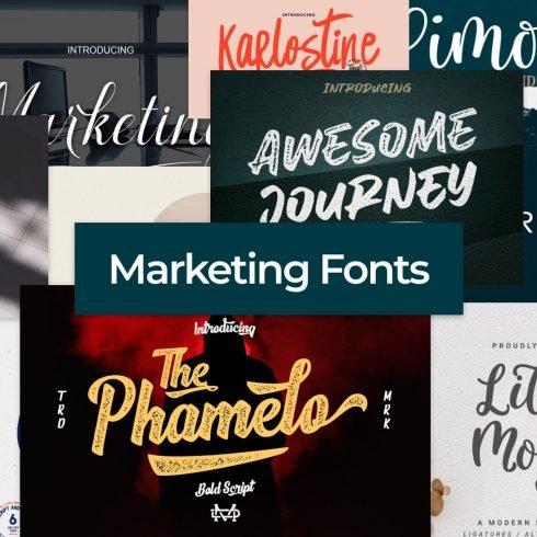 Marketing Fonts Example.