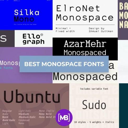 Monospace Fonts Example.