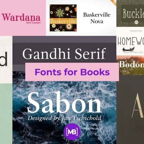 Fonts for Books Example.