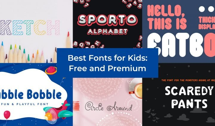 Fonts for Kids Example.