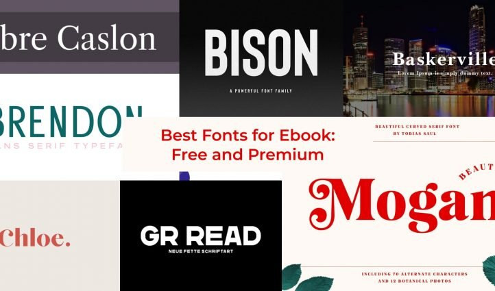 Fonts for Ebooks Example.