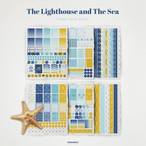 The Lighthouse and The Sea Planner Stickers main cover.