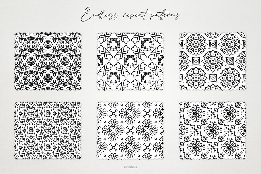 A clean and lovely black and white floral ornament will brighten the surface of your decor.