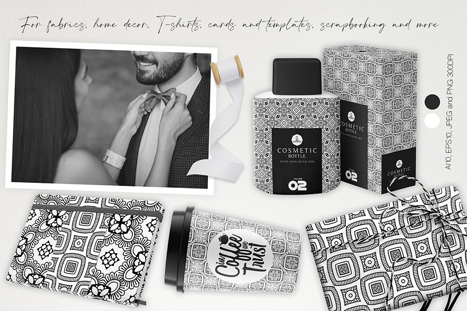 This black and white cover is a great option for a premium perfume.