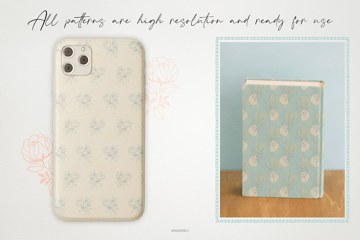 These are vintage universal templates. You can use them to decorate notebooks or phone cases.