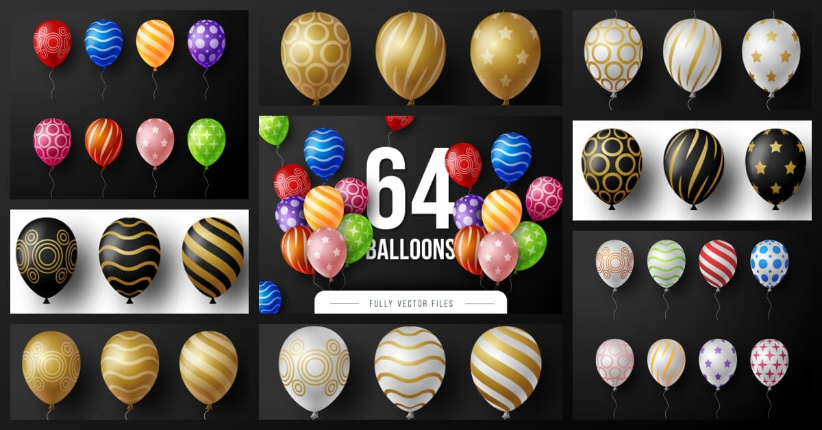 Colorful and bright balloons.