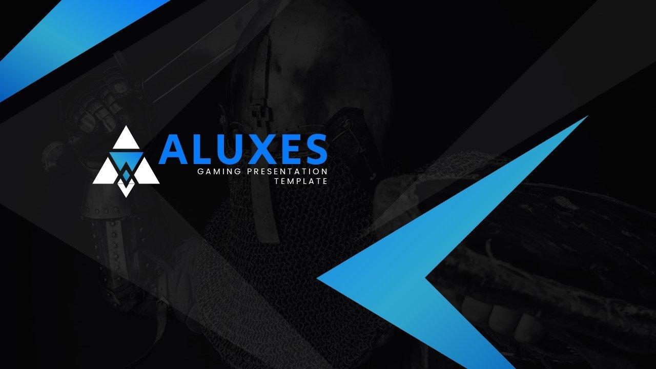 Dark laconic template with blue elements.
