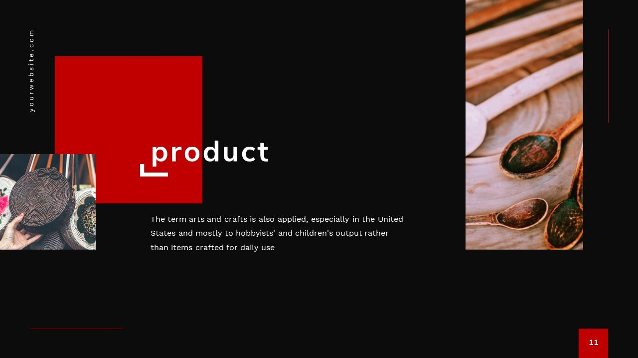 This entire template is dedicated to you and your project / products.