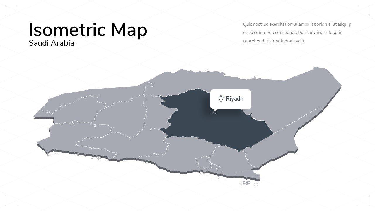 Saudi Arabia map.