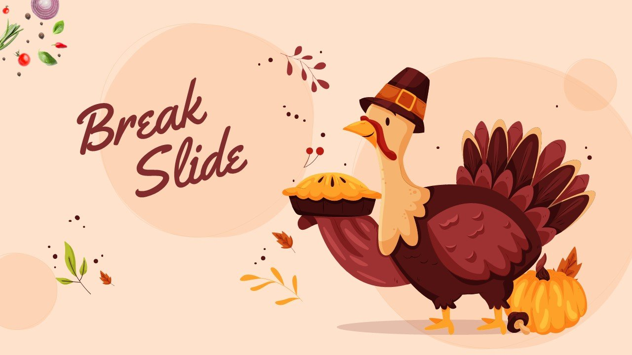 Beautiful illustration of a turkey with a branded pie.