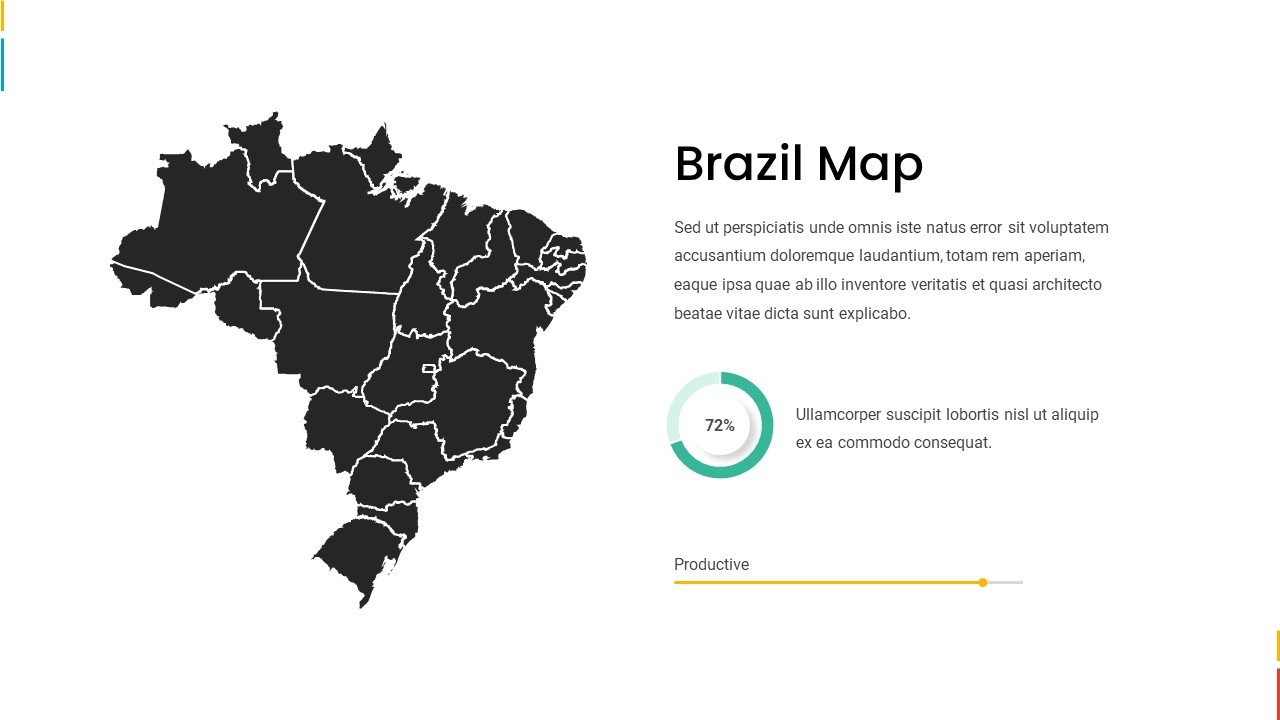 Black Brazil map with infographic.